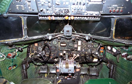 DC-3 cockpit, US Air Force