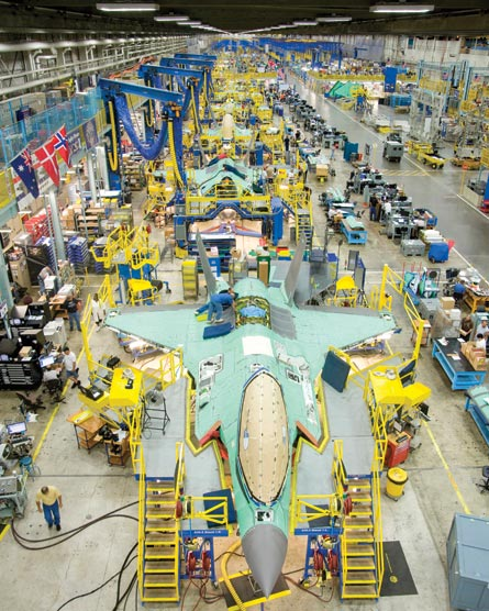 F-35 assembly, ©Lockheed Martin