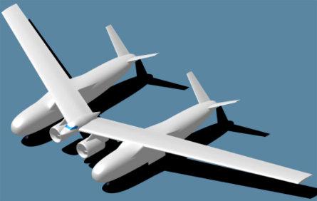 Northrop double fuselage 445