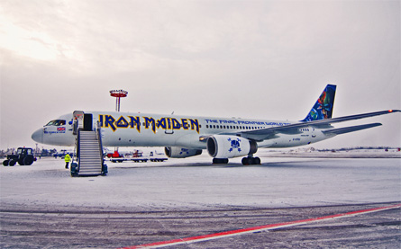 Iron Maiden 757 side - Astraeus Airlines