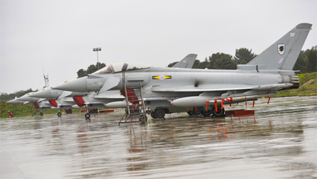 RAF Typhoons in Italy - Crown Copyright