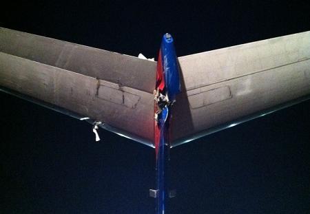 Bombardier tail damage