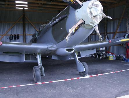 Crashed Spitfire