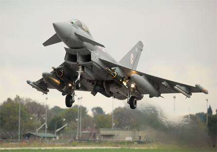 Typhoon with Litening pod - Crown Copyright