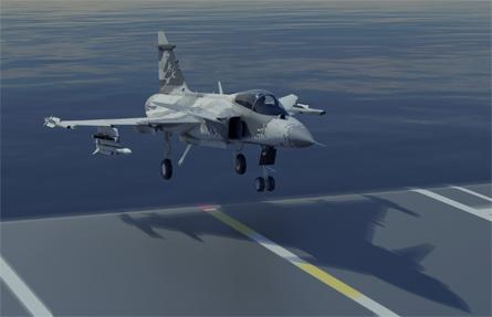 Sea Gripen landing - Saab