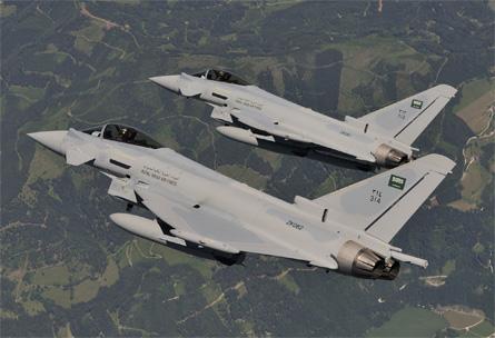 Saudi Typhoons - Geoffrey Lee Eurofighter