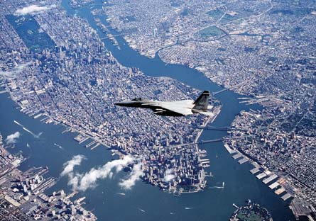 F-15 over NYC