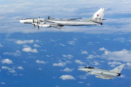 RAF Typhoon v Russian Bear - Crown Copyright
