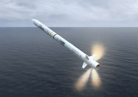 Sea Ceptor missile - MBDA