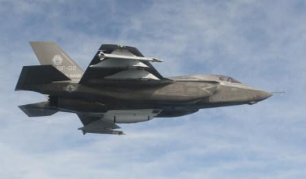 F-35B with gun pod side - Lockheed Martin