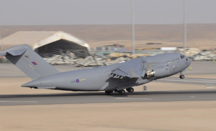 RAF C-17 Camp Bastion - Sgt Ross Tilly Crown Copyr