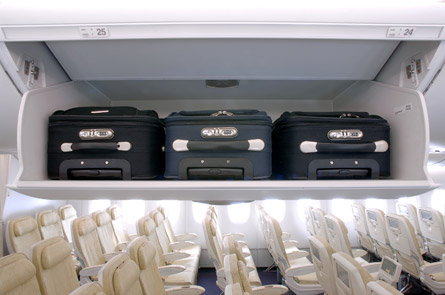 A380 luggage storage
