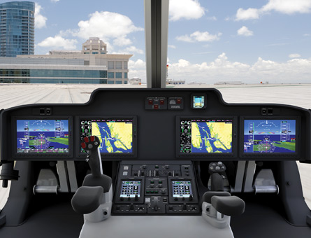 Bell 525R flight deck