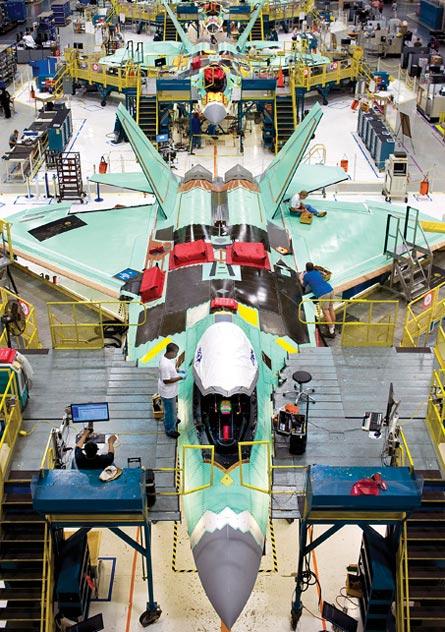 Lockheed Martin F-22 production line