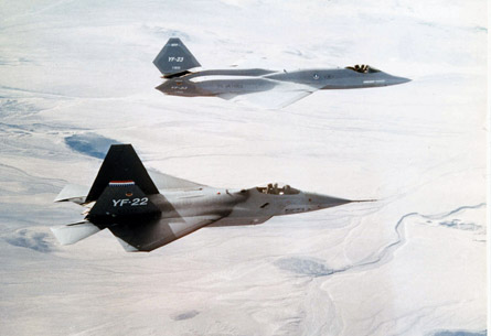 Lockheed Martin YF-22 & Northrop YF-23