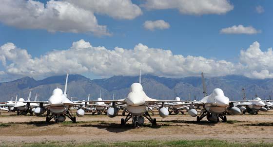 Mothballed F-16A