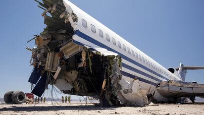 727 controlled crash