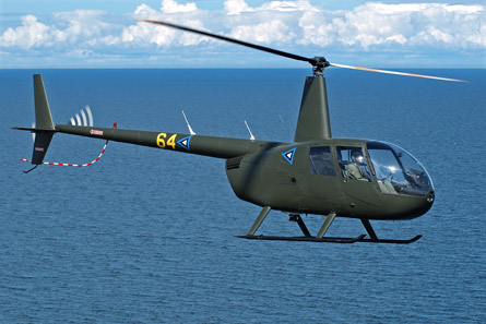 Estonian air force Robinson R44 helicopter