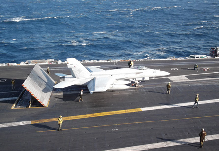 F/A-18 Super Hornet ready for take off on the US S