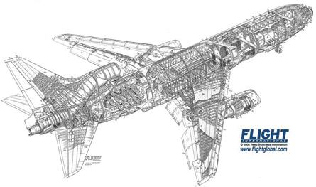 L-1011 Tristar cutaway