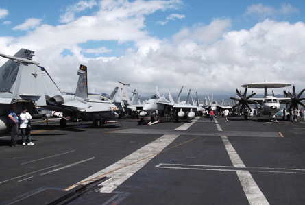 USS Stennis carrier deck