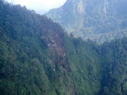 Indonesian Sukhoi Superjet 100 crash site