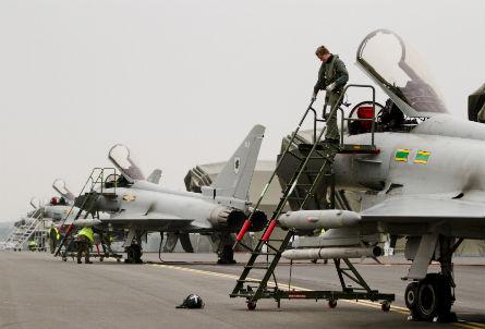 RAF Typhoons Northolt - Crown Copyright
