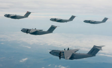 Five A400Ms fly - Airbus Military
