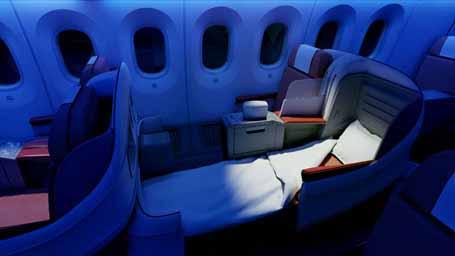 LAN 787 interior