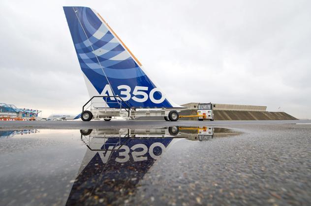A350 tail fin