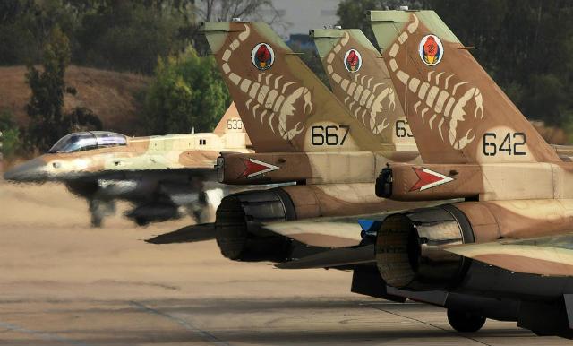 Israeli F-16D tails - Israeli air force