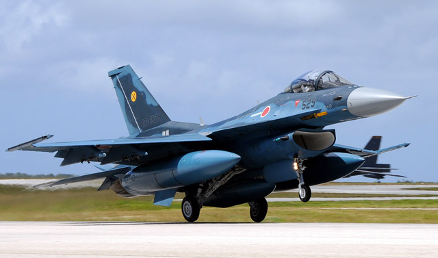 Japan air self defense force F-2