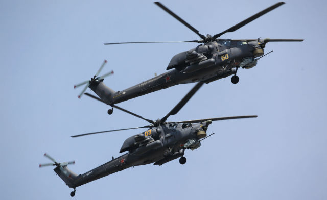 Mi-28N pair - Russian Helicopters