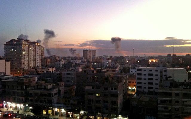 Smoke above the Gaza Strip