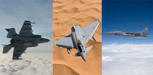 Eurofighter Typhoon, F-35 JSF & F-15 Silent Eagle