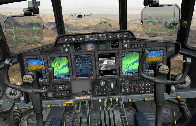 Israel C-130 cockpit - Elbit Systems