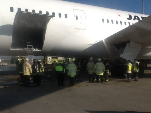 JAL 787 fire