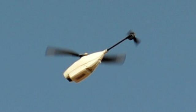 Black Hornet flies - Crown Copyright