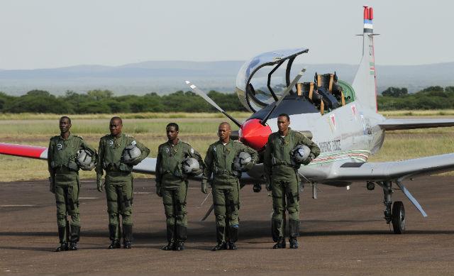 Botswana PC-7 pilots - Pilatus