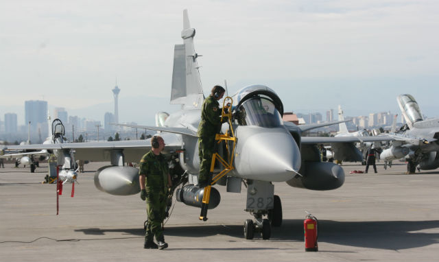 Gripen Red Flag - Swedish air force