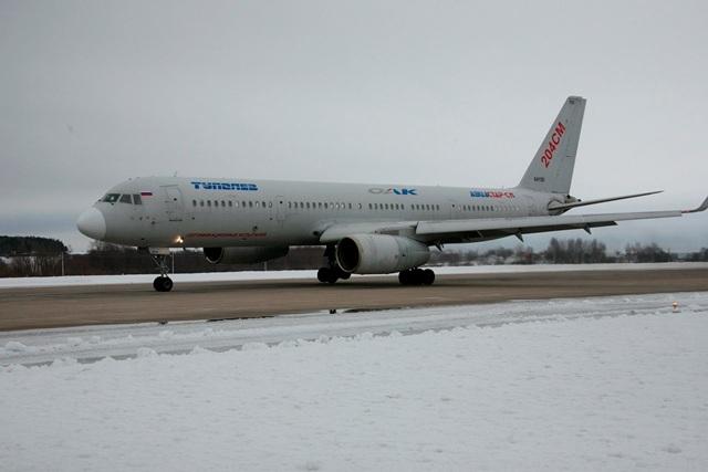 Tu-204SM land test