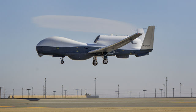 MQ-4C Triton debut - US Navy