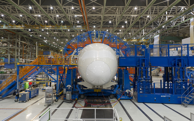 787-9 at final body joint. front