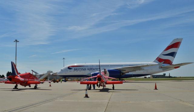 BA A380 Red Arrows