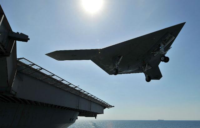 X-47B Bush TO - Rex Features