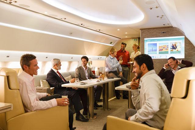 emirates executive lounge area