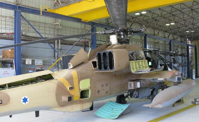 AH-64A with pod - Arie Egozi