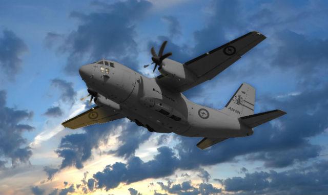 RAAF C-27J flight graphic - L-3 Communications
