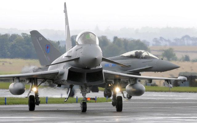 RAF Typhoons Leuchars - Rex Features