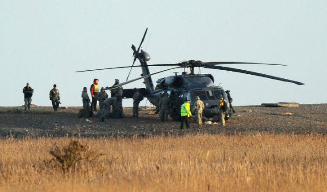 HH-60G crew - Rex Features